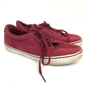 Vans Red Crimson Lace Up Sneakers 10.5